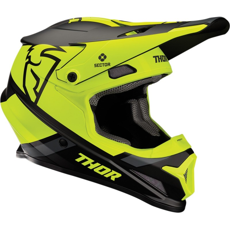 Prilba na moto THOR Sector Split MIPS black/yellow