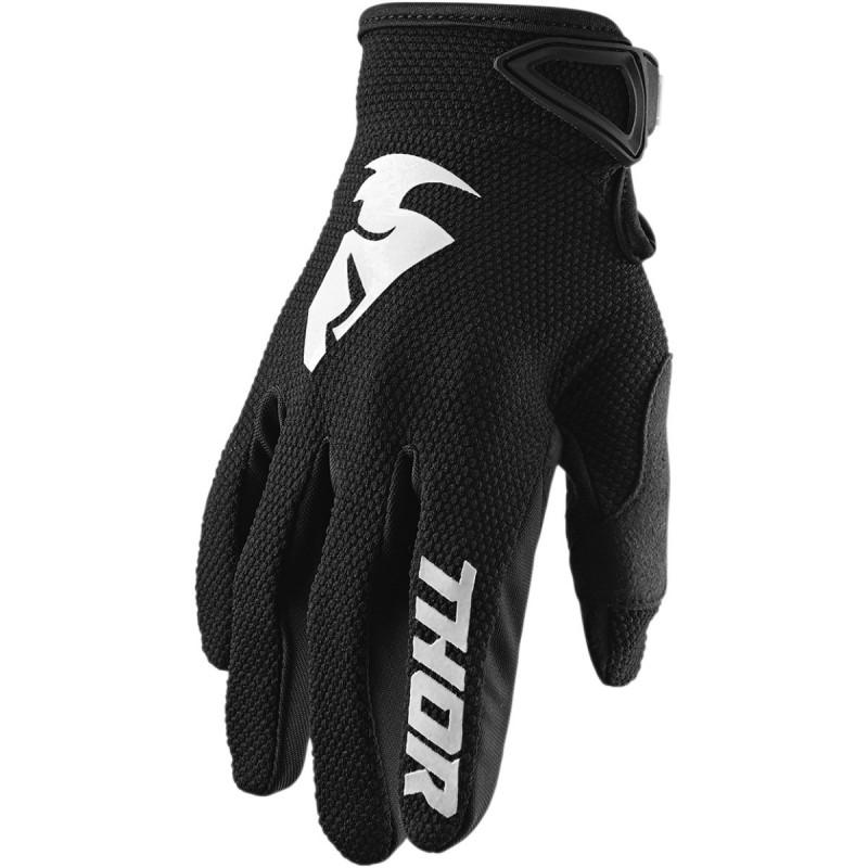 MX rukavice Thor Sector S20 black